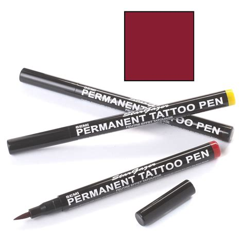 Permanent Tattoo Pen Black | burgundy 02 semi permanent tattoo pen stargazer 1ml