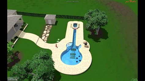 guitar shaped swimming pool pool design by cascade custom pools quot the guitar pool quot