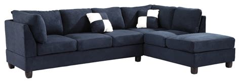 furniture tufted sectional sofa navy blue suede
