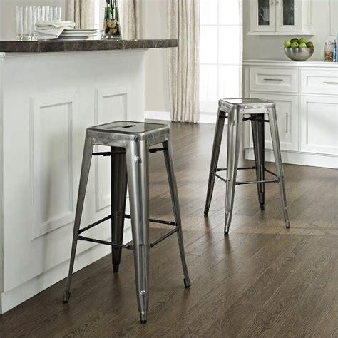 Galvanised Bar Stools by Crosley Furniture Amelia 30 Quot Metal Cafe Galvanized Bar Stool Ebay