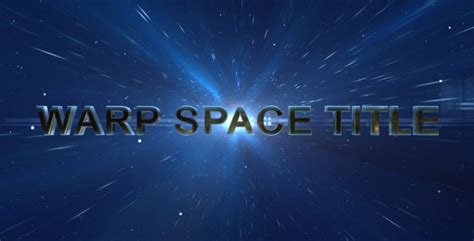 Warp Space Title Space After Effects Templates F5 Design Com Space After Effects Template