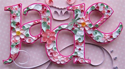 paper quilling names tutorial quilled jade crafting creatures