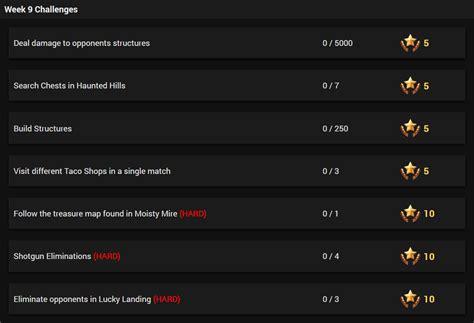 fortnite week 9 challenges season 3 week 9 challenges leaked fortnite intel