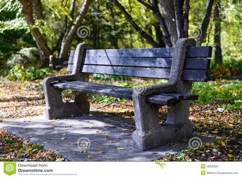 city park bench city park bench under the shade stock photo image 48625567