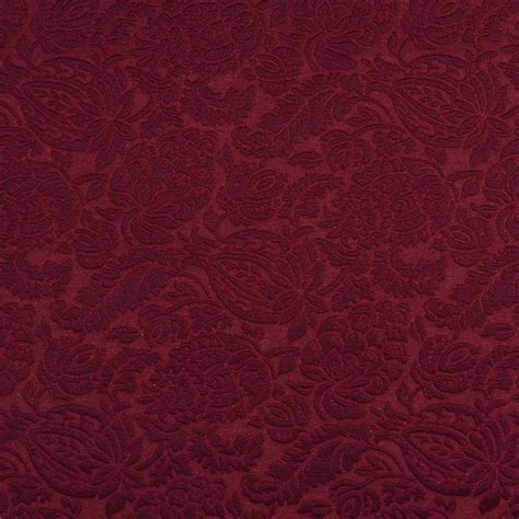 upholstery grade fabric e554 burgundy floral jacquard woven upholstery grade