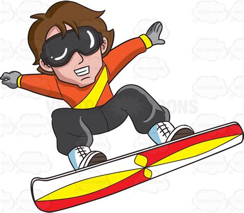 snowboard clipart a snowboarder jumping in exhibition clipart by vector