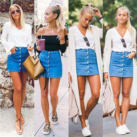 Denim Pencil Mini Skirt fashion button denim skirt high waist bodycon slim
