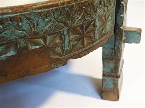 Indian Ottoman Furniture Indian Carved Teak Ottoman Omero Home