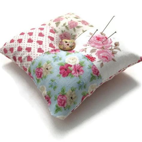 Patchwork Pincushion Pattern - pin cushions shabby chic and patterns on