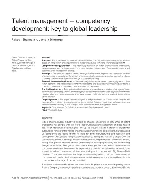 talent management research papers pdf talent management competency pdf available