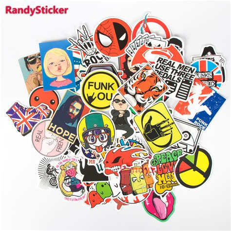 doodle motorcycle 50 pcs mixed stickers styling doodle sticker