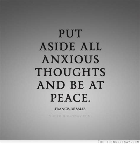 At Peace by Put Aside All Anxious Thoughts And Be At Peace