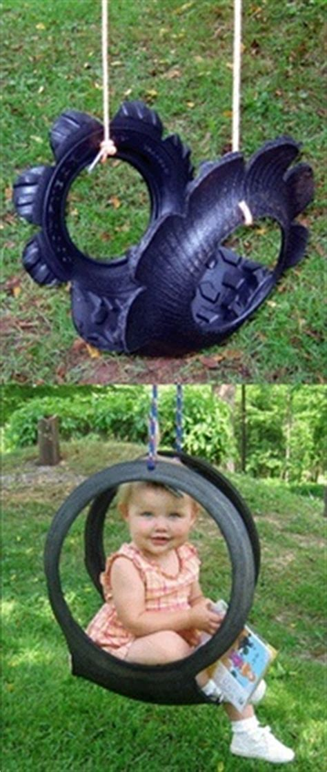 swing cool cool tire swing for the yard pinterest