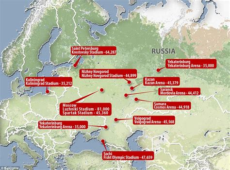 world cup venues guide to the russia world cup venues daily mail
