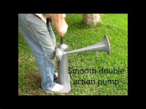 old boat horn old hand pump fog signal air horn youtube