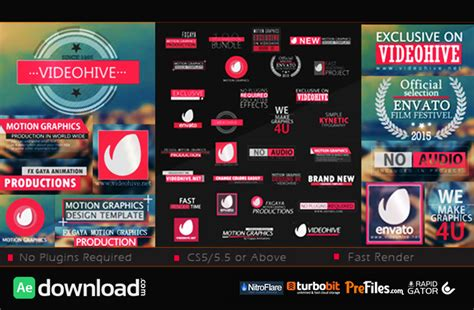 Videohive After Effects Project Footage Mega Bundle 30 title bundle videohive project free free after effects template videohive