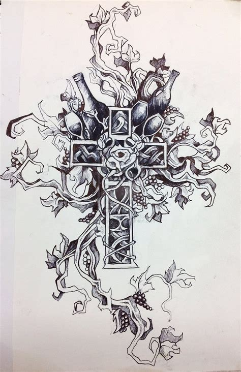tattoo cross with roses designs 15 pretty flower cross designs images cross with flowers