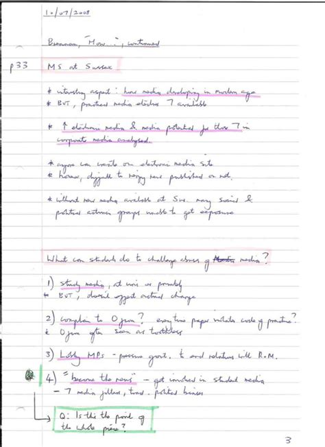 pattern notes advantages note making styles skills hub university of sussex
