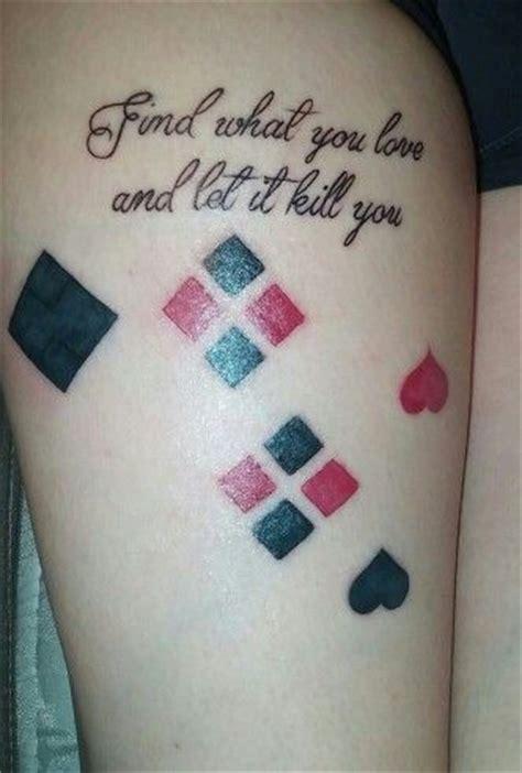 joker inspired tattoo inspired by harley quinn tattoos pinterest harley