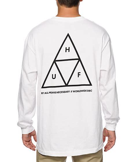 Kaos Sleeve Huf Triangle Black Dyed t shirt cheep huf triangle sleeve 163 42 26