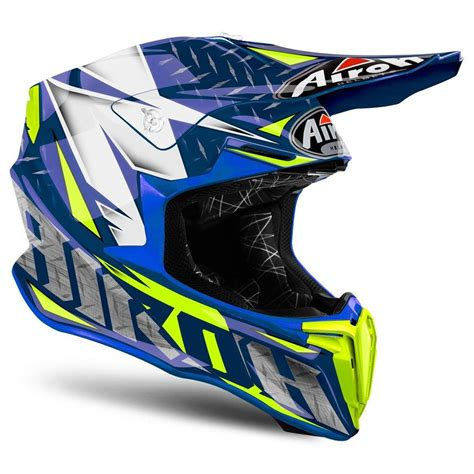 blue motocross helmet airoh twist iron blue motocross mx helmet matt gardiner