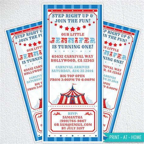 diy carnival birthday diy circus invitations carnival invitations