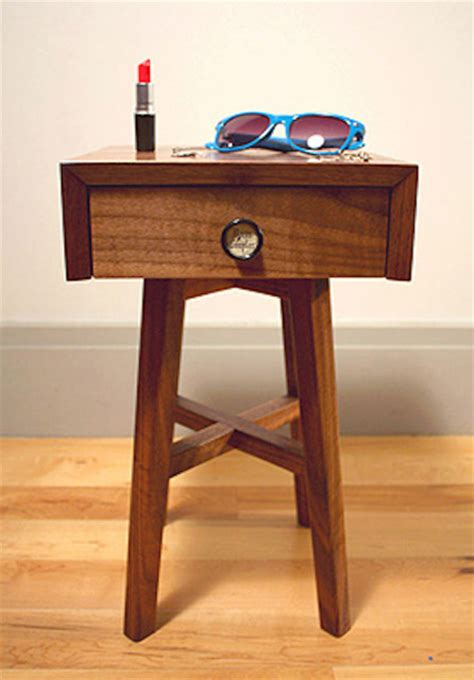 Small Walnut Side Table Traditional Side Tables And