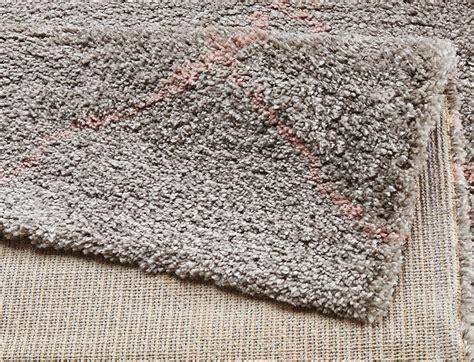 teppiche grau rosa design velours teppich hochflor hash grau rosa teppiche