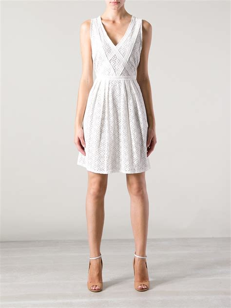 Broderie Dress lyst marc by marc broderie anglaise dress in white