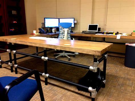 butcher block office desk massive u shaped butcher block work bench with matching shelf