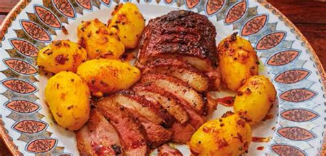 Berry Chicken Recipes Saturday Kitchen by Roast Goose Breast Mappas With Aloo Podimas Saturday