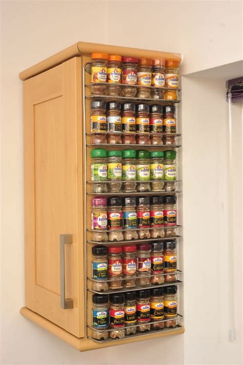 wall mounted spice cabinet spice rack easy wall mount or cupboard fix