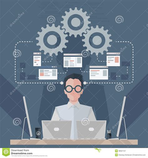 design engineer software software engineer stock vector image of abstract