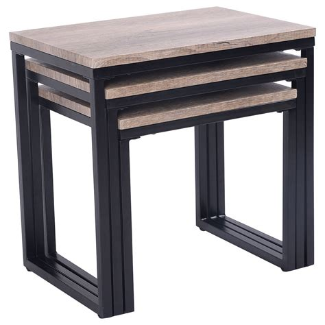 nesting end tables living room 3 piece nesting coffee end table set wood modern living