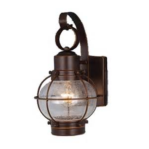 nautical light shop cascadia lighting nautical 12 in h burnished bronze