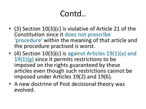 post c section restrictions maneka gandhi case