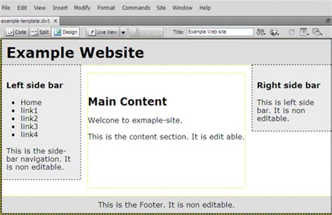 dreamweaver cs5 templates how to make a template dreamweaver free software