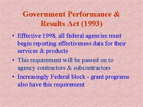 government performance & results act (1993)