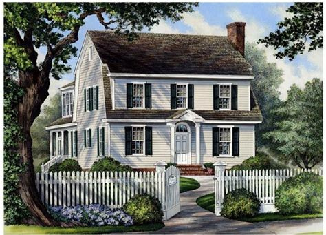 Colonial Country House Plans by Colonial Cottage Country Farmhouse House Plan 86166