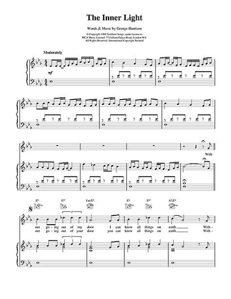The Inner Light by The Inner Light Sheet By The Beatles Piano Vocal