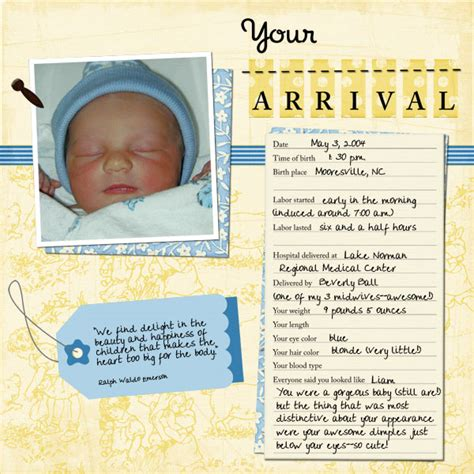 templates for baby book pages your arrival baby book page 11 members galleries