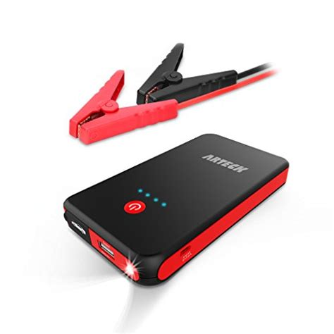 jump boat battery with car arteck car jump starter auto battery charger and 8000mah