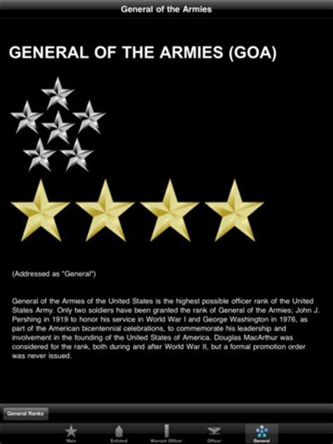 u s army ranks hd app for iphone utilities