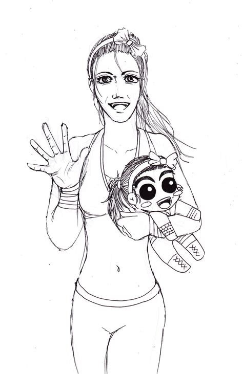 paige wwe coloring page nxt diva bayley uncolor by tapla on deviantart