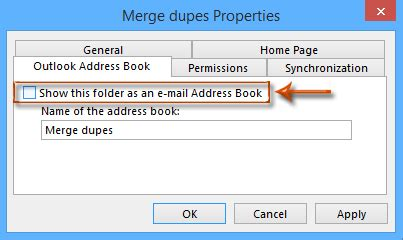 how to remove address books in outlook?