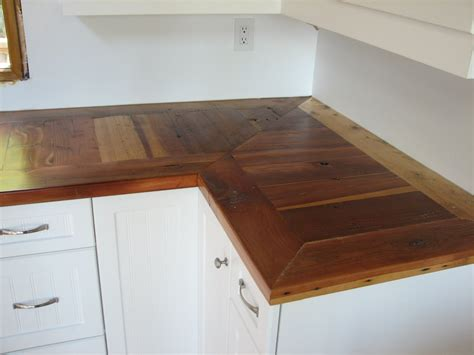 Barn Wood Countertops by Omega Cabinet Company Prairie Barnwood Countertops