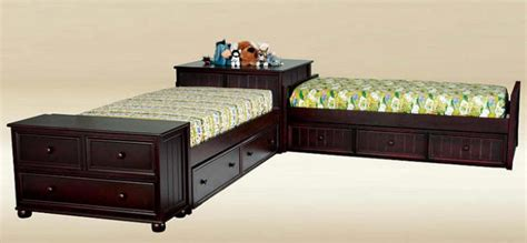 corner unit twin beds brooklyn twin size corner unit beds from totally kids fun