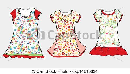 vectors of dresses and t shirt design for child