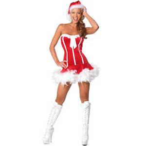 Strapless santa costume sexy christmas costumes christmas outfits