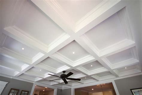 Waffle Ceiling Vs Coffered Ceiling Coffered Ceiling Systems Easy Coffered Ceiling In A Day